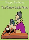Crafts Person - Greeting Card